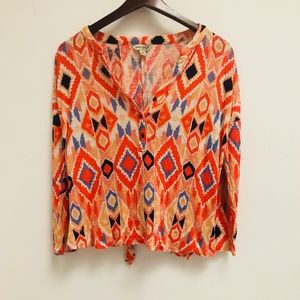 Lucky Brand back tie top size M